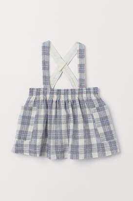 H&M Linen-blend skirt with straps