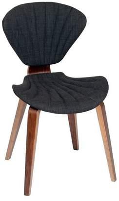 Armen Living Lisa Modern Fabric With Walnut Wood Chair
