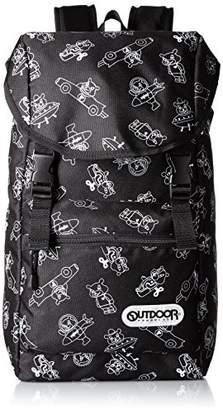 Outdoor Products (アウトドア プロダクツ) - [アウトドアプロダクツ] OUTDOOR PRODUCTS OUTDOOR & repimaru レピ丸 コラボフラップリュック RM104 クロ (クロ)