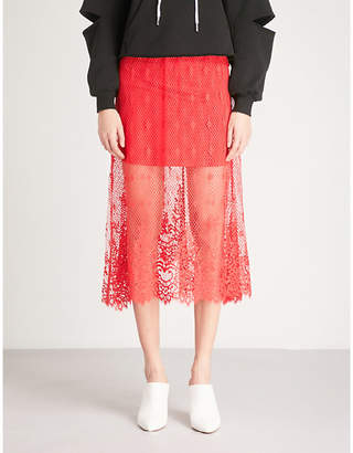 Mo&Co. Floral lace skirt