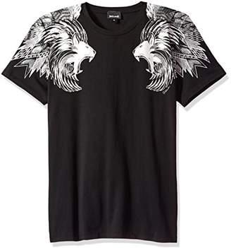 Just Cavalli Men's Lion Shoulder Tee