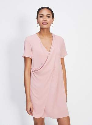 Miss Selfridge Pink drape front dress