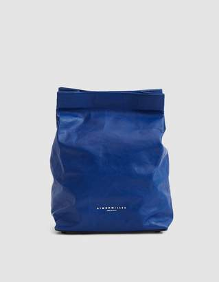 Simon Miller Lunch Bag Leather Clutch in Cobalt