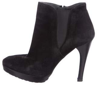 Stuart Weitzman Suede Semi Pointed-toe Ankle Boots