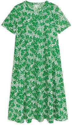 Arket Floral T-Shirt Dress