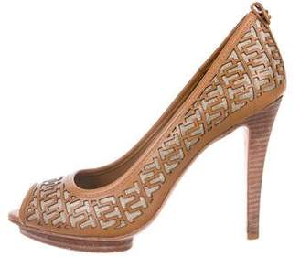 Tory Burch Leather Laser-Cut Pumps