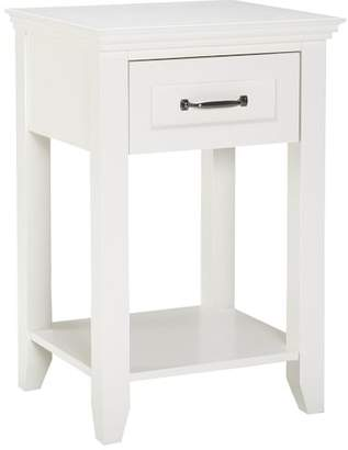 Pottery Barn Teen Hampton Bedside Table, Simply White, White Glove