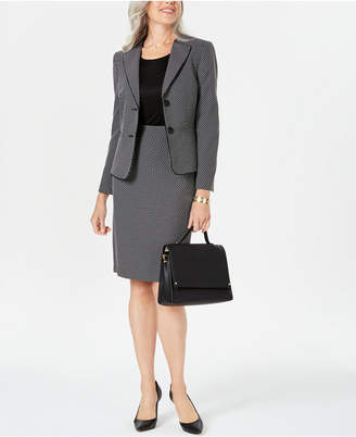 f57b8c3ca Le Suit Geo-Plaid Skirt Suit