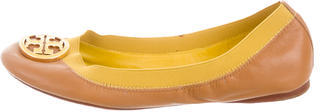 Tory BurchTory Burch Round-Toe Leather Flats