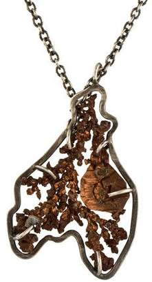 Melissa Joy Manning Two-Tone Copper Pendant Necklace