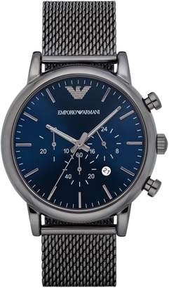Emporio Armani Chronograph Dress Luigi Mesh Bracelet Watch