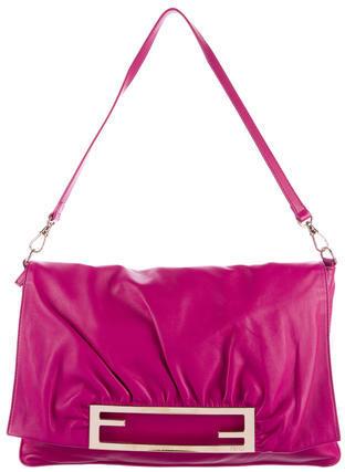 FendiFendi Pleated Leather Shoulder Bag