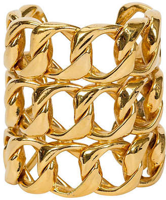 One Kings Lane Vintage Chanel Gold Triple-Layer Link Cuff