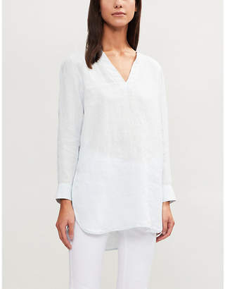 The White Company V-neck linen tunic