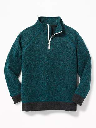 Old Navy Sweater-Knit 1/4-Zip Pullover for Boys