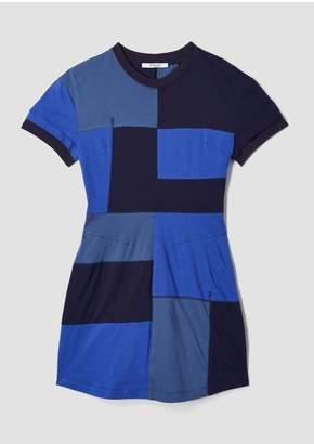 Derek Lam 10 Crosby Short Sleeve Patchwork T-Shirt Dress