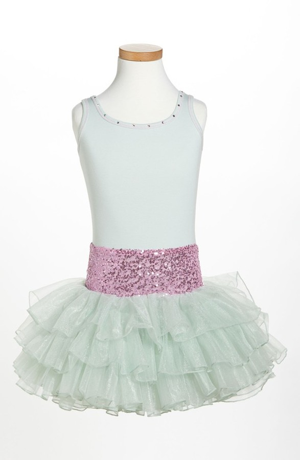 Ooh! La Ooh! La, La! Couture Belted Sequin Dress (Little Girls)