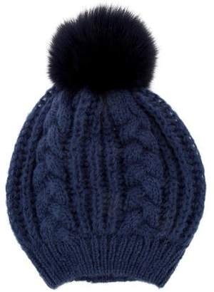 Glamour Puss Glamourpuss Fur-Accented Knit Beanie w/ Tags