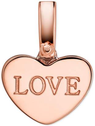 Michael Kors Women's Custom Kors 14K Rose Gold-Plated Sterling Silver Love Heart Charm