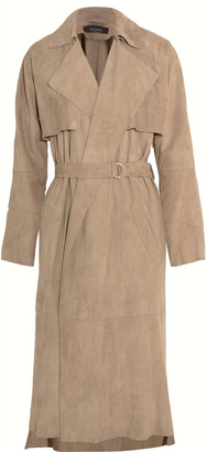 Muubaa Lorne belted suede trench coat $995 thestylecure.com
