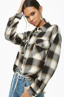 Forever 21 Plaid Button-Down Flannel Shirt
