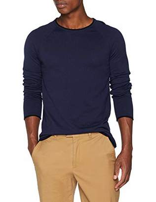 Scotch & Soda Men's Pullover in Cashmere Blend Quality with Contrast Rolled Hem