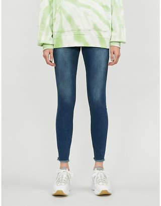 Good American Good Legs cropped frayed hem straight-leg high-rise jeans