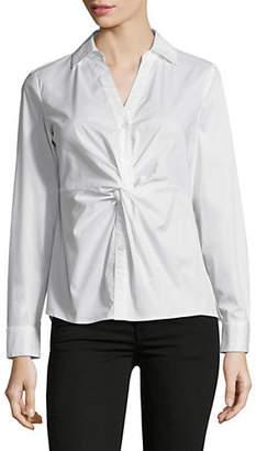 INC International Concepts Twist-Front Button-Down Shirt