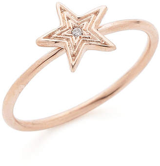 Jacquie Aiche 14KRG ダイヤモンド STAR リング ローズゴールド