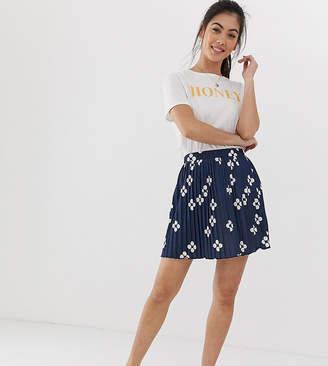 3dd05b3f344 Asos DESIGN Petite exclusive pleated mini skirt in four polka dot
