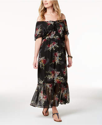 Style&Co. Style & Co Off-The-Shoulder Maxi Dress