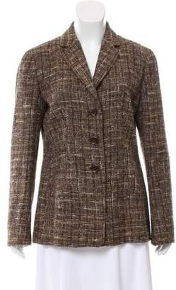 Agnona Tweed Notch-Lapel Blazer