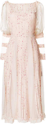 RED Valentino georgette pleated point d'esprit dress
