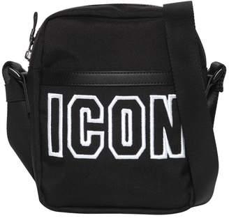 DSQUARED2 Icon Frame Tech Nylon Crossbody Bag