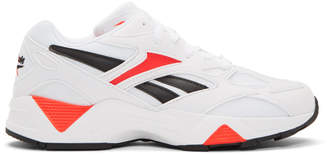 Reebok Classics White and Red Aztrek 96 Sneakers