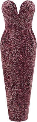 Rasario Leopard-Print Chiffon Midi Dress Size: 38