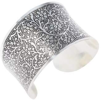 Mela Artisans Silver Tradition Engraved Cuff in Nickel