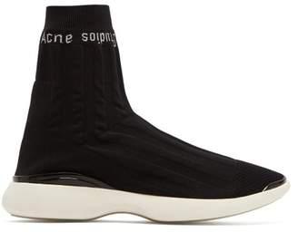 Acne Studios - Batilda Knitted Sock Trainers - Womens - Black