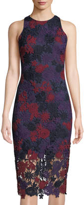 Alexia Admor Floral Lace Sleeveless Sheath Dress