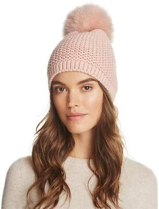 Sunnylife Kyi Kyi Slouchy Hat with Fox Fur Pom-Pom - 100% Exclusive
