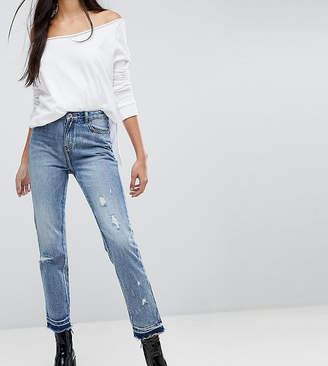 Missguided Tall Distressed Hem Jeans
