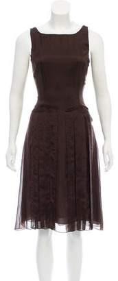 Carolina K. Pleated Silk Midi Dress