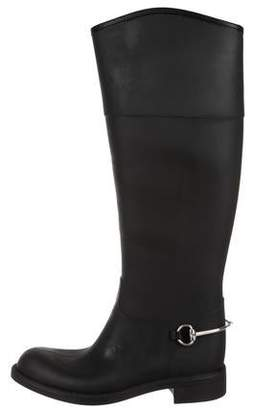 Gucci Rubberized Knee Boots w/ Tags