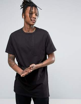 MHI T-Shirt In Black With Large Pocket