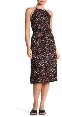 Velvet Torch Halter Print Midi Dress
