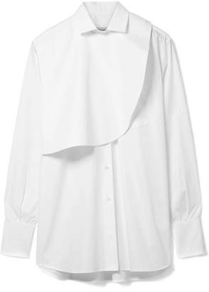 Valentino Layered Cotton-poplin Shirt - White