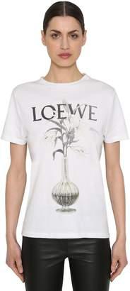Loewe Logo Printed Cotton Jersey T-Shirt