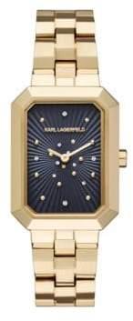Klassic Linda Stainless Steel 3-Link Bracelet Watch