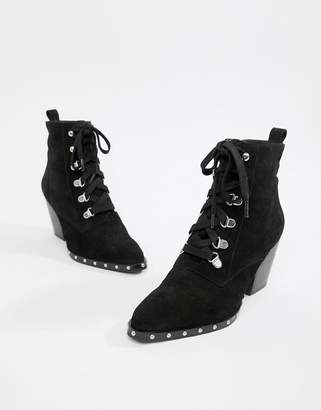 Asos Design DESIGN Ritz suede lace up ankle boots