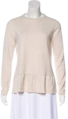 Brunello Cucinelli Cashmere Pleated Long Sleeve Top